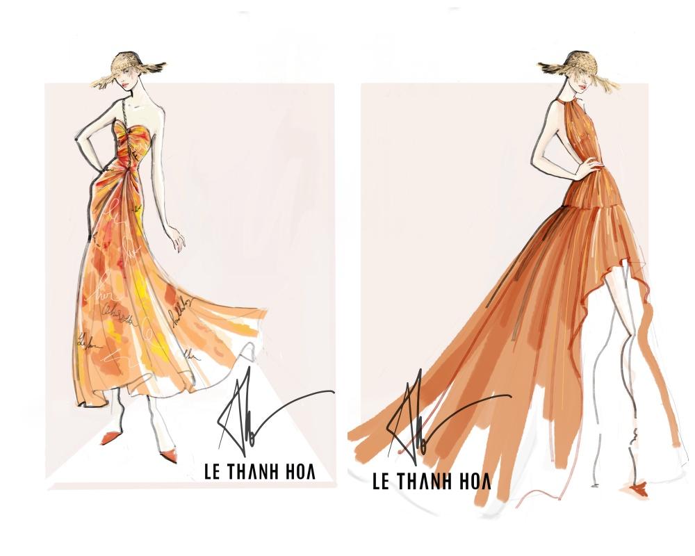 Lê Thanh Hoà hé lộ phác thảo BST Like the Sunshine cho Fashion Voyage 1