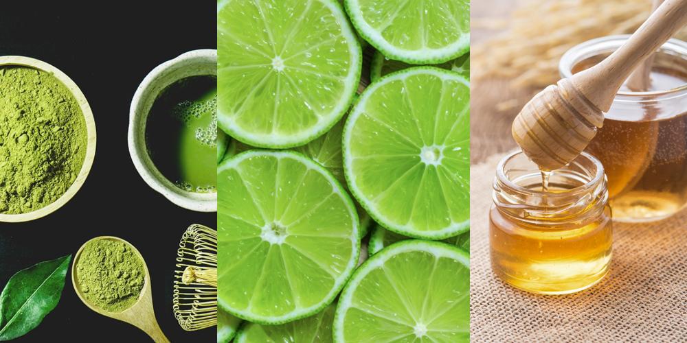 Cách làm mặt nạ trà xanh, mật ong và nước cốt chanh