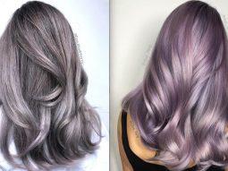 Nhuộm tóc ombre màu khói