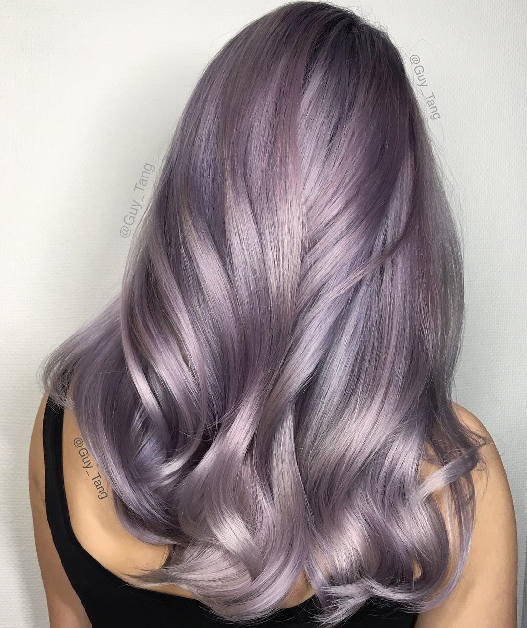 Nhuộm tóc ombre màu tím khói