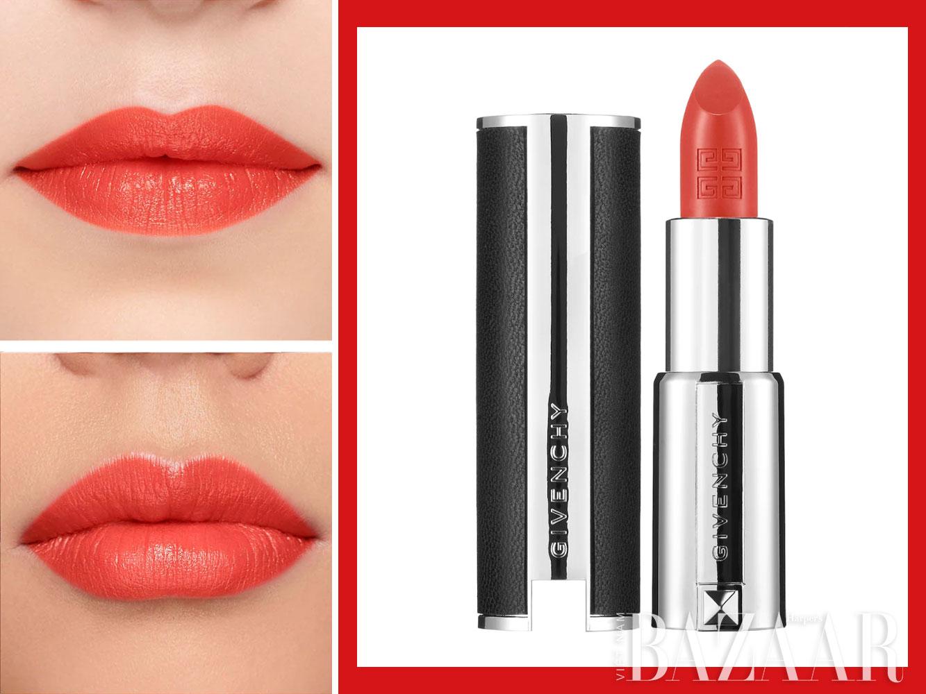 Son môi màu đỏ san hô cao cấp: Givenchy