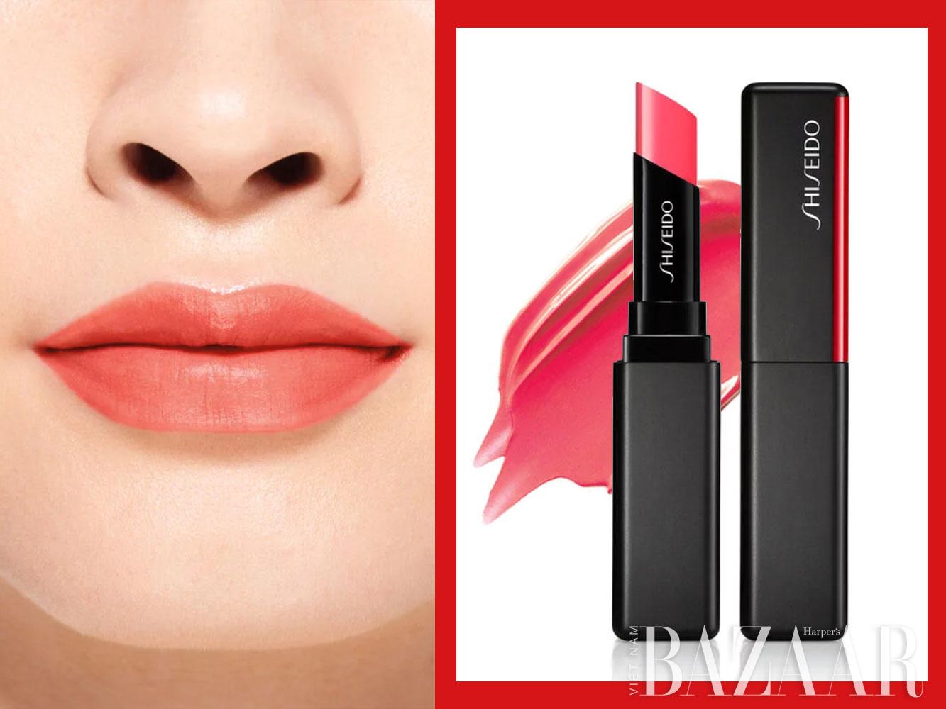 Son môi màu đỏ san hô cao cấp: Shiseido
