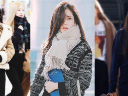 thời trang sân bay của sao nữ Hàn
