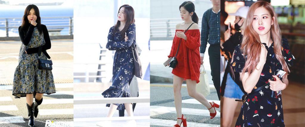 thời trang đầm của sao Hàn
