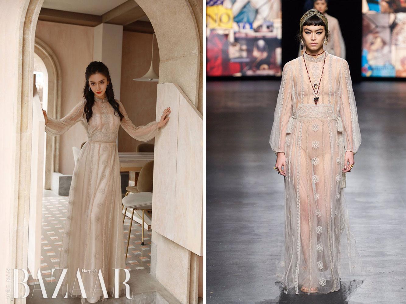 Angelababy ăn mừng sinh nhật tại Weibo Night 2020 với Dior, Elie Saab 1