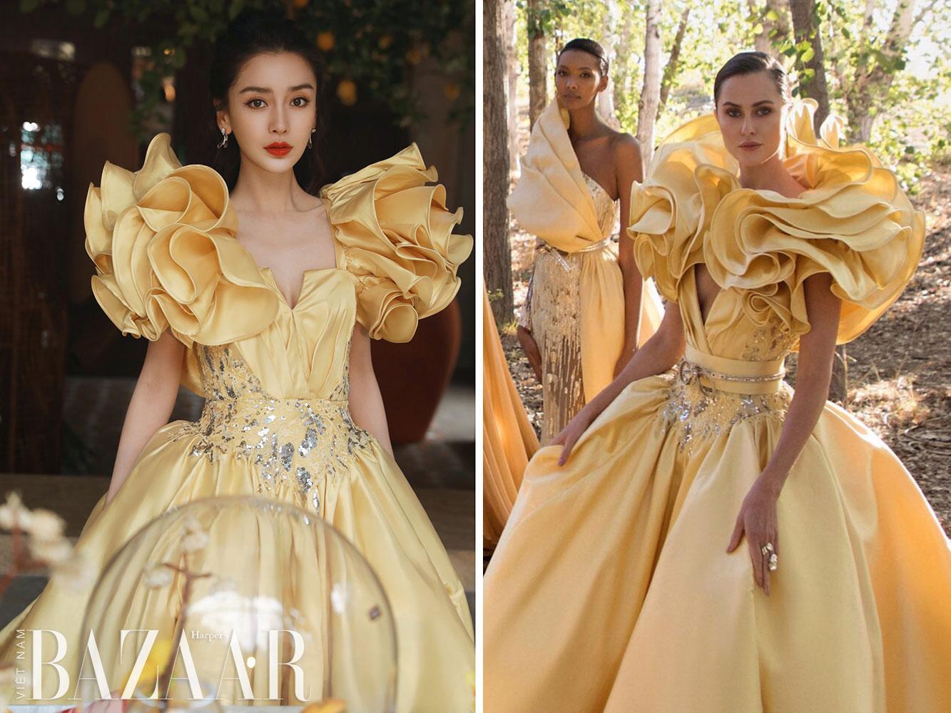 Angelababy ăn mừng sinh nhật tại Weibo Night 2020 với Dior, Elie Saab 5