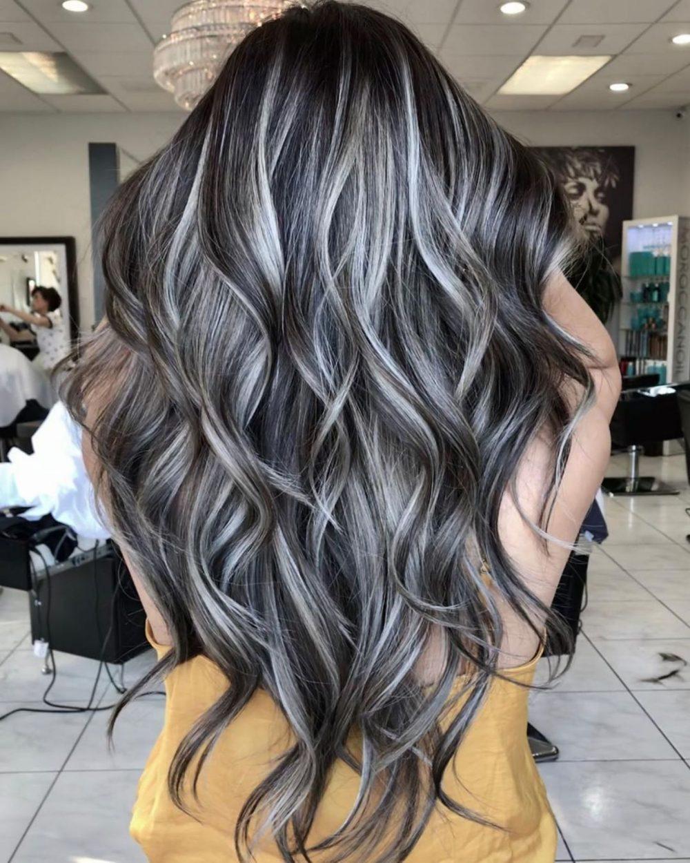 Tóc đen móc light màu bạch kim
