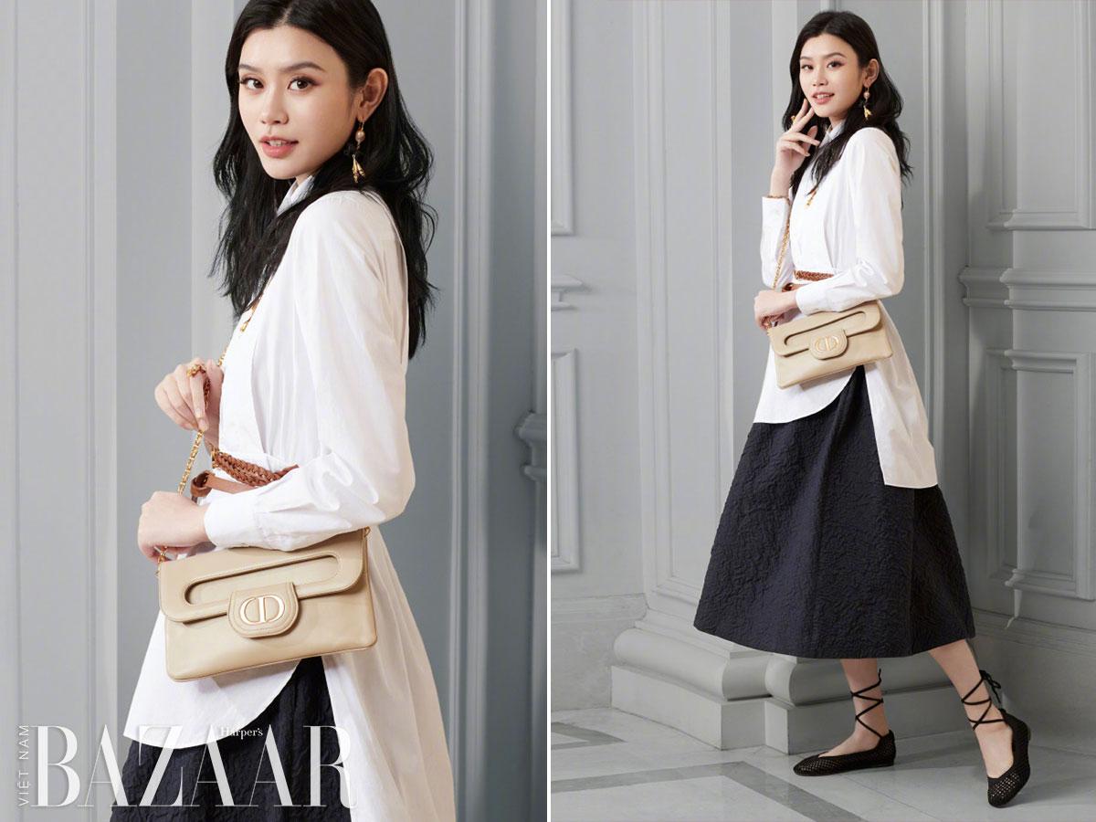 Hoa hậu Phương Khánh hoá cô gái đồng nội Pháp với túi DiorDouble 3