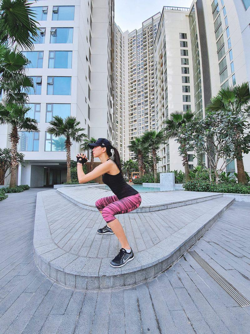 Ngô Thanh Vân giữ dáng bằng thói quen tập gym.