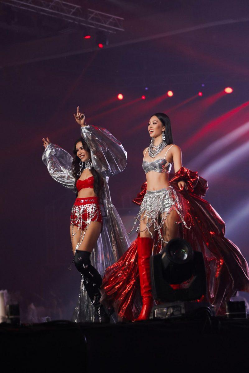 Tiểu Vy, Minh Tú diện bikini Hà Nhật Tiến tại concert Rap Việt All-Star 5