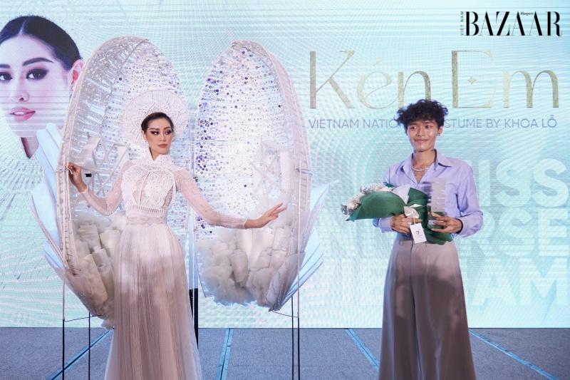 Khánh Vân mang tơ tằm Việt đến cuộc thi Hoa hậu Hoàn vũ thế giới 1