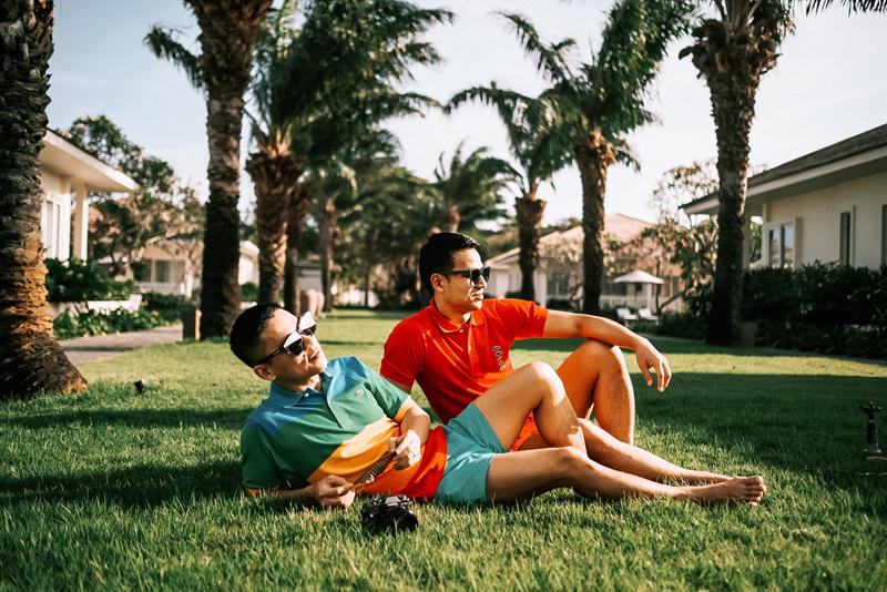 Adrian Anh Tuấn và Sơn Đoàn retro cùng BST Lacoste x Polaroid 1