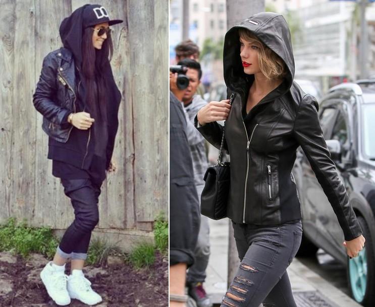 Taylor Swift (phải)