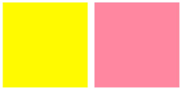 Màu vàng kết hợp với màu gì thì đẹp? Vàng và hồng fuchsia hay hồng cá hồi