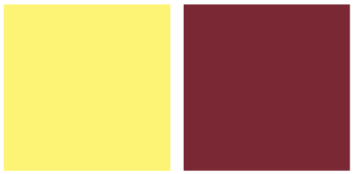 Màu vàng kết hợp với màu gì thì đẹp? Màu đỏ, đỏ sậm
