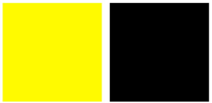 Màu vàng kết hợp với màu gì thì đẹp? Đen hoặc trắng