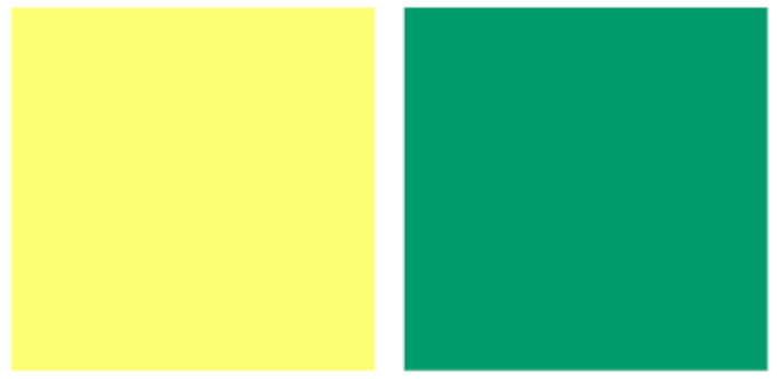 Vàng và xanh lá/xanh lục