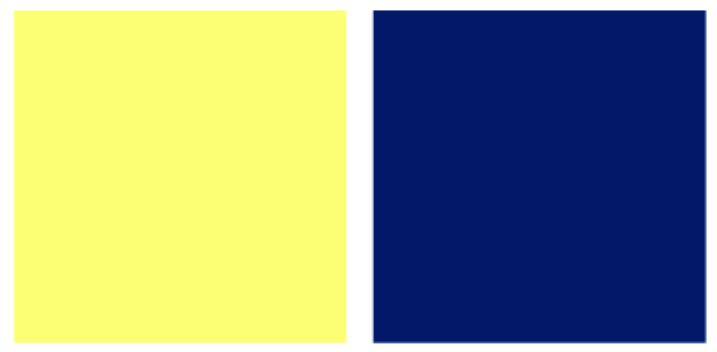Màu vàng kết hợp với màu gì thì đẹp? xanh dương hoàng gia (Royal Blue)