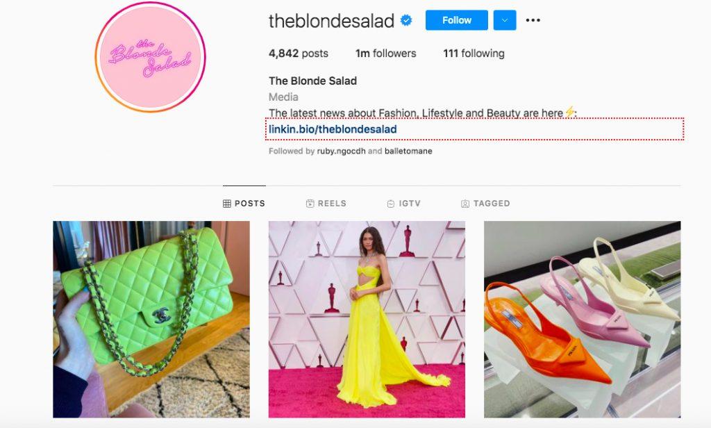 những tài khoản Instagram thời trang