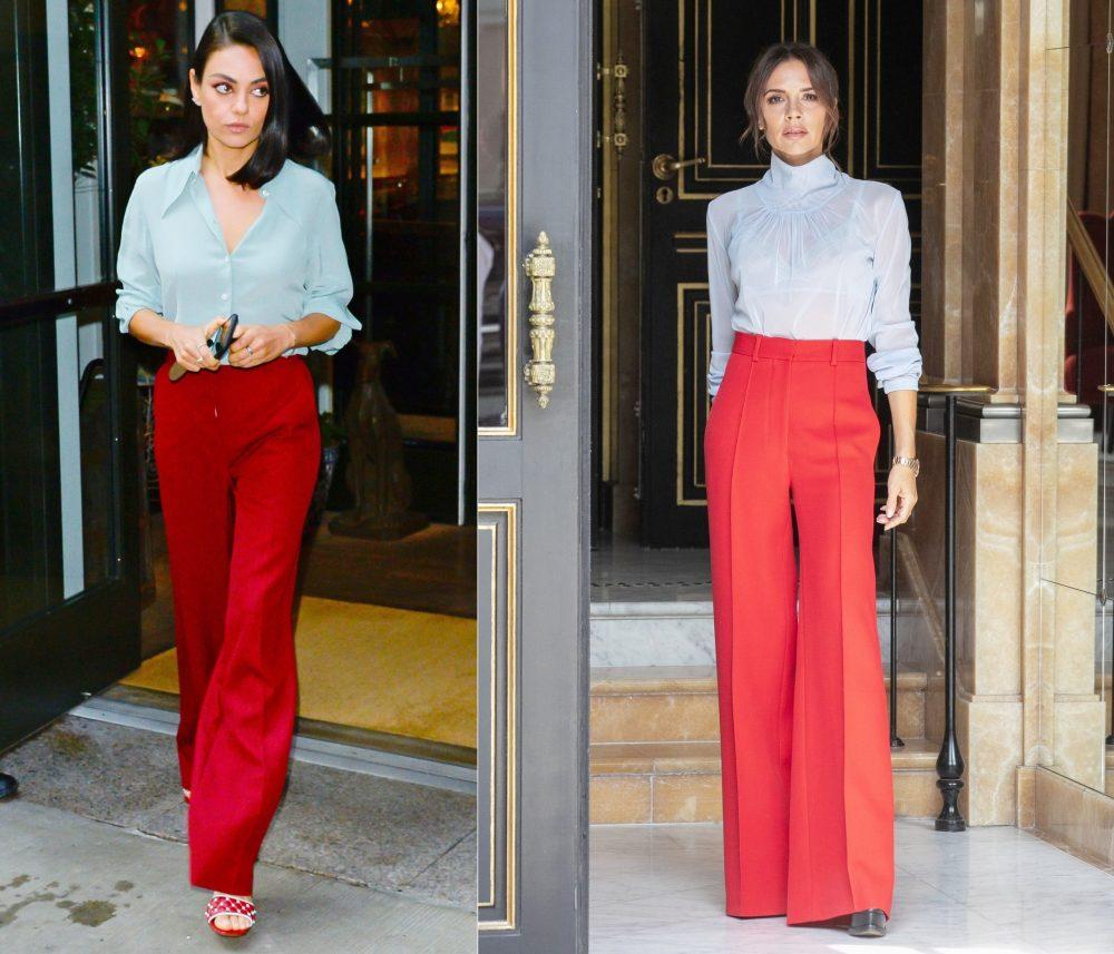 quần màu đỏ kết hợp với áo màu gì