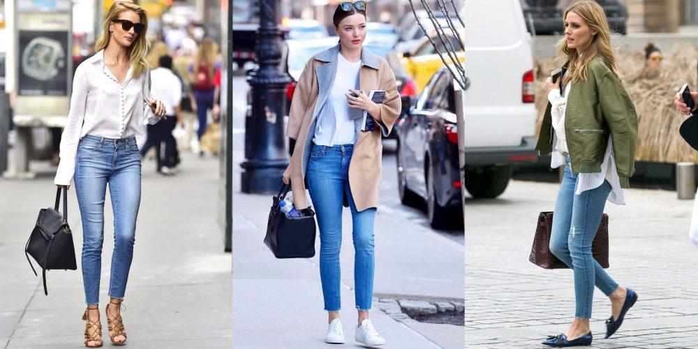 Skinny jeans + giày