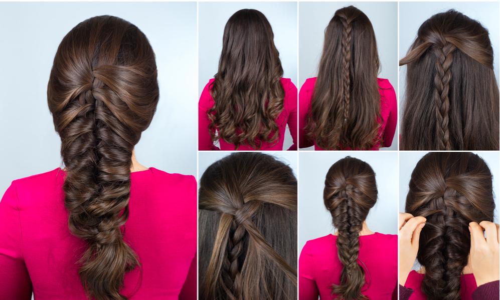 hướng dẫn tự tết tóc xương cá