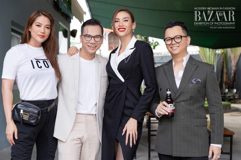 Từ trái sang: khách mời Trương Ngọc Ánh, Kiếng Cận, Võ Hoàng Yến, Long Kan.