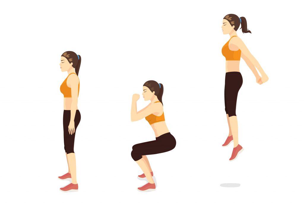 Bài tập giảm mỡ bắp chân nhảy squat