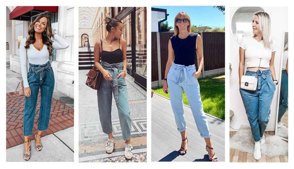 Tăng chiều cao với quần paperbag jean