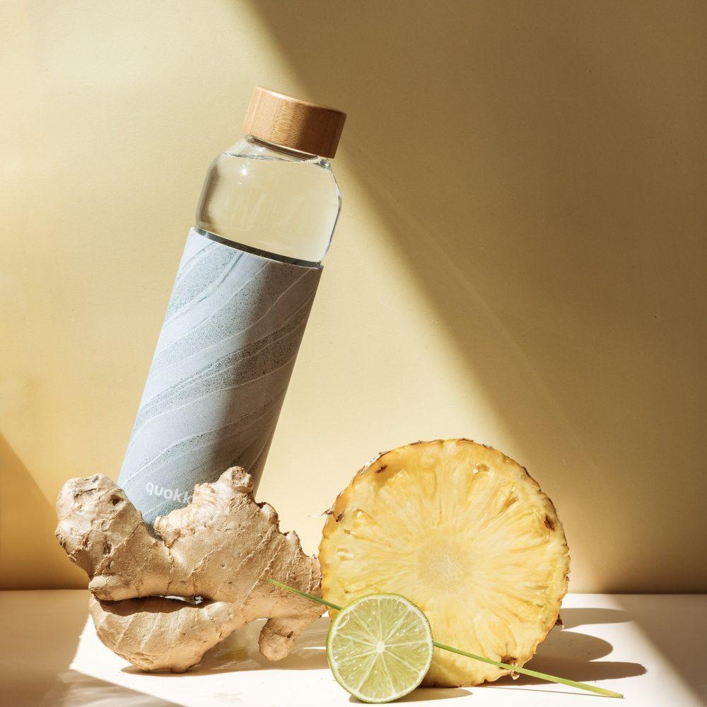 Công thức detox giảm mỡ bụng: nước dứa và gừng