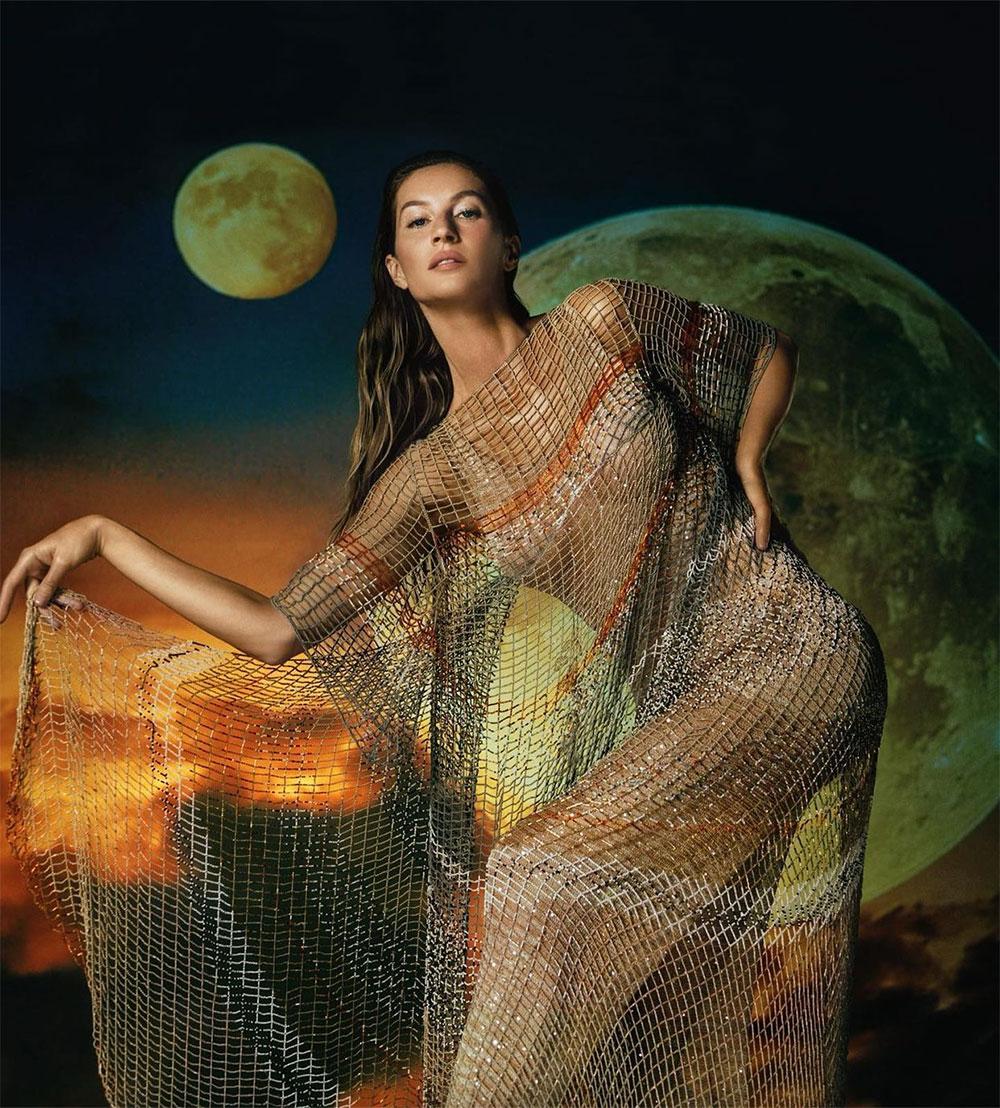 Gisele Bündchen nhảy vũ điệu thần linh dịp siêu trăng máu kèm nguyệt thực toàn phần