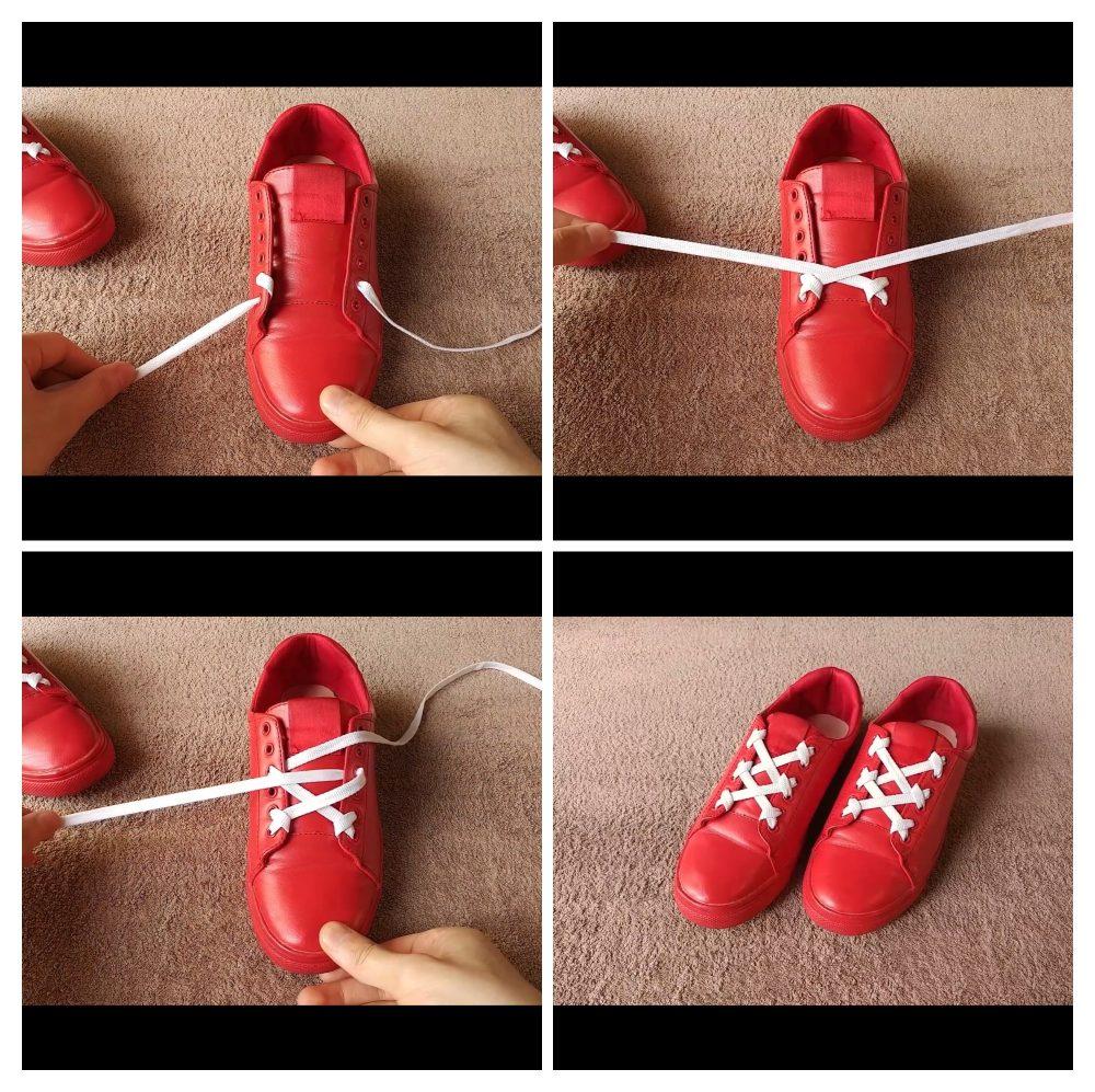 Cách buộc dây giày đẹp 4 lỗ
