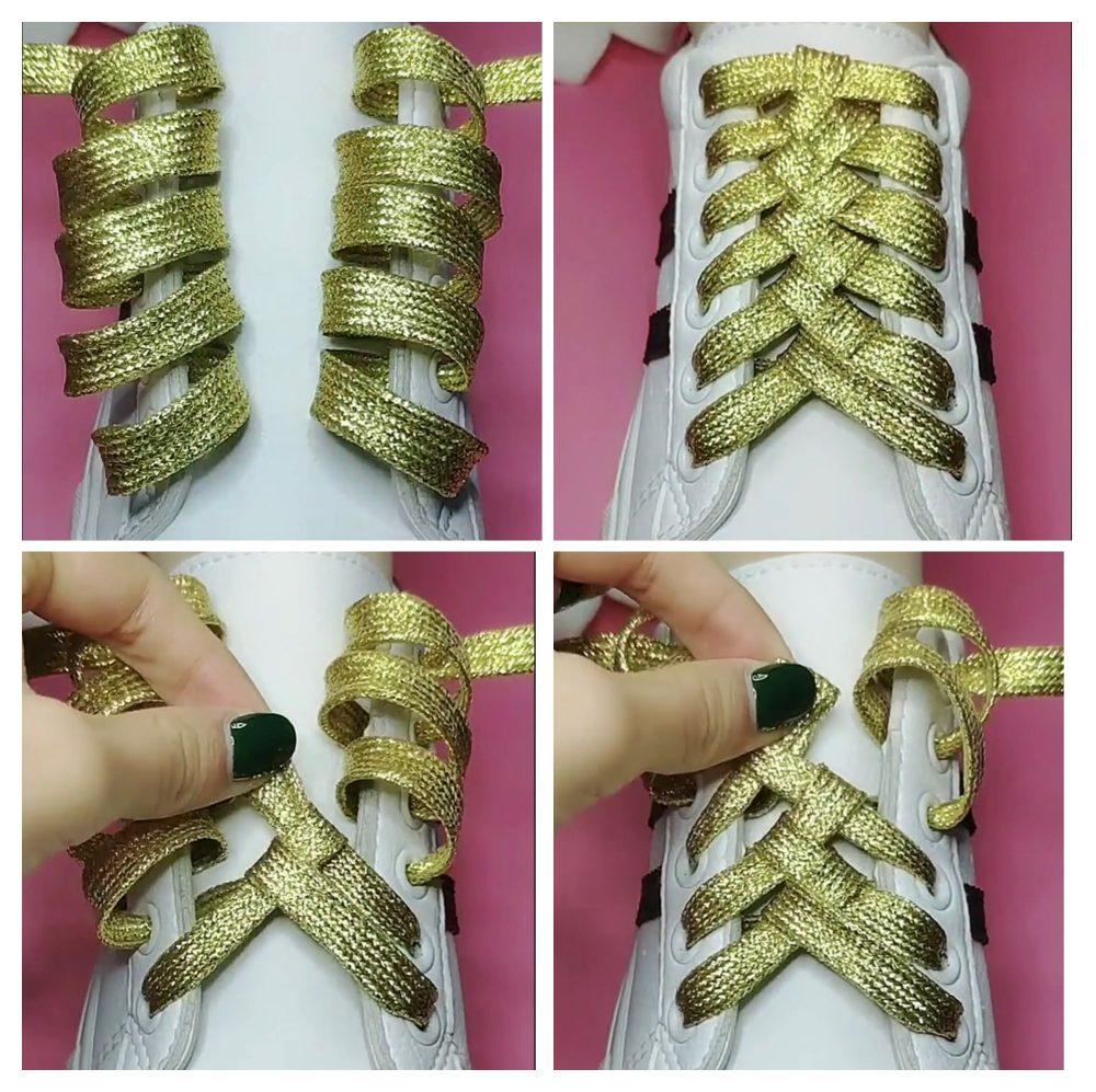 Cách buộc dây giày đẹp 16 lỗ