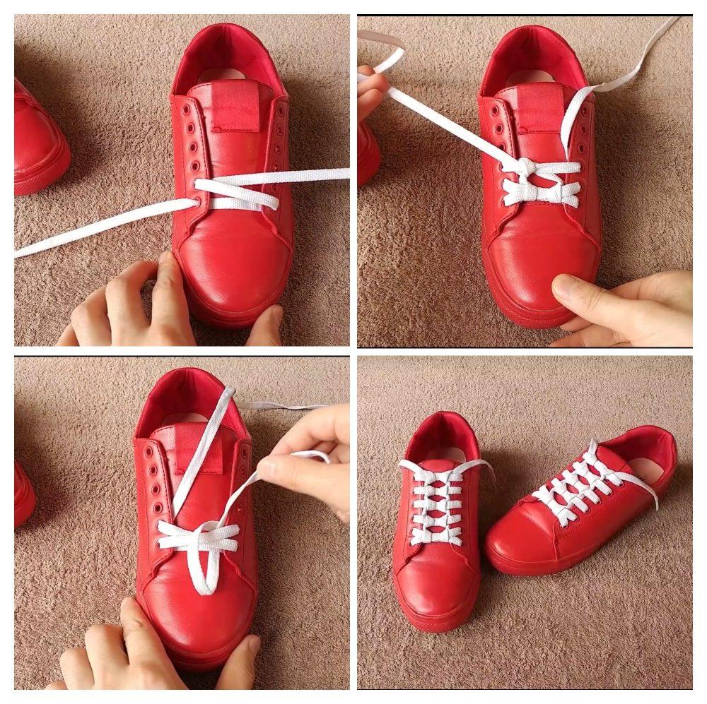 Cách buộc dây giày đẹp 6 lỗ