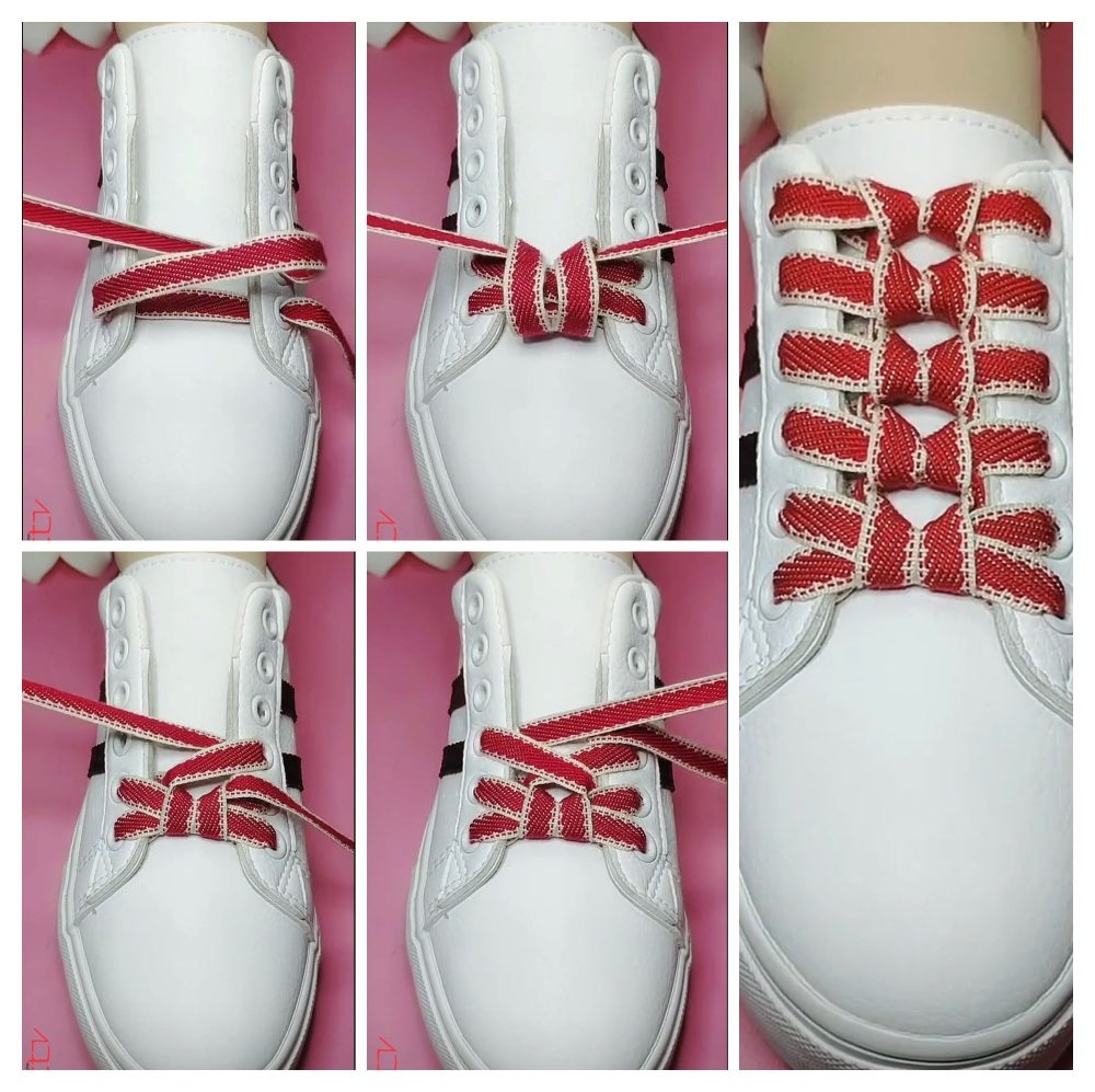 cách thắt dây giày 7 lỗ