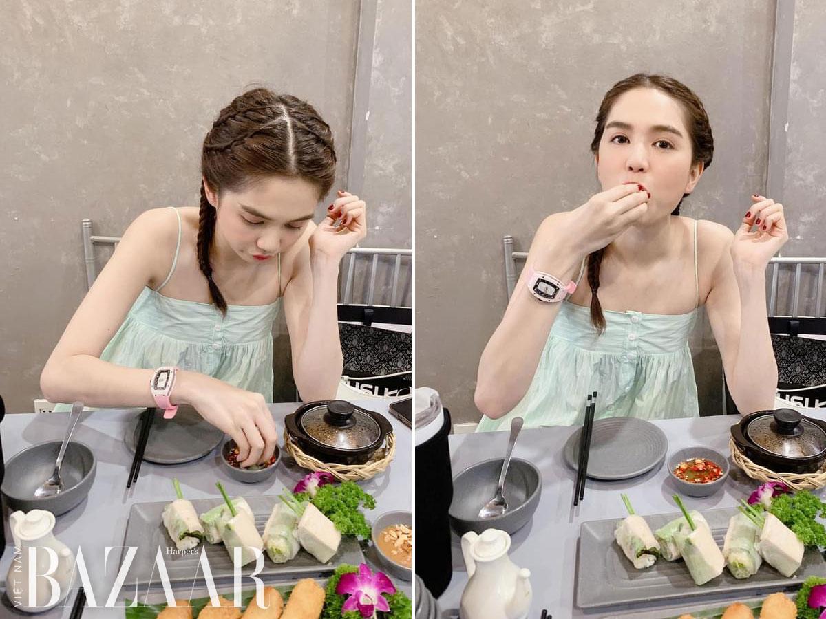 Ngọc Trinh sắm hay đồng hồ Richard Mille RM 07-01 màu hồng