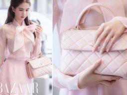 Váy hồng nên mặc áo màu gì?