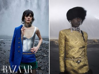 Saint Laurent Thu Đông 2021 đưa thời trang vũ trường thập niên 1960 đến Iceland hùng vỹ