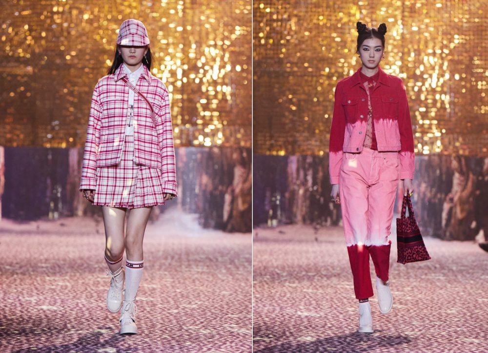 Hồng của Dior trong Bộ sưu tập Thu 2021