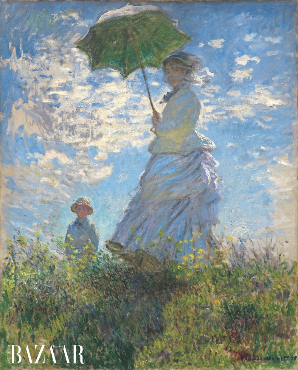 Tranh Người phụ nữ với chiếc ô (La femme à l'ombrelle) do danh họa Claude Monet vẽ năm 1875.