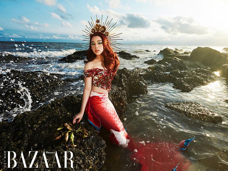 Hoa hậu nhí Bella Vũ gây ấn tượng khi hóa thân thành nàng tiên cá