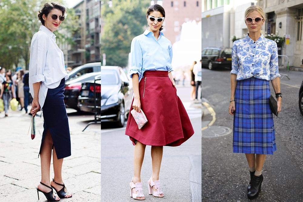 Cách phối đồ cho người lùn chân to với váy