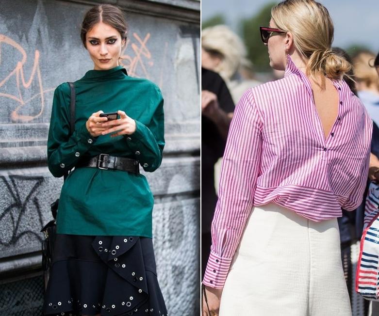 Cách phối đồ với áo sơ mi form rộng: Áo sơ mi mặc ngược