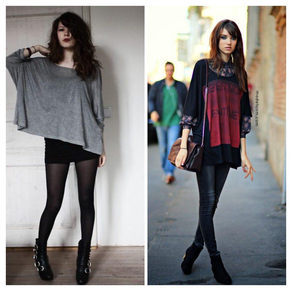 Cách phối đồ với áo thun form rộng nữ nhiều lớp