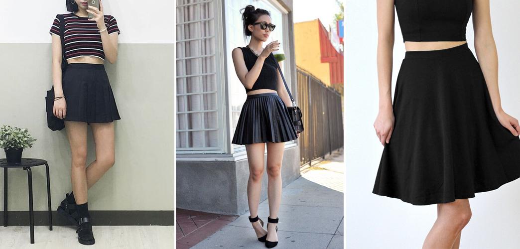 Cách mix đồ với chân váy xòe ngắn