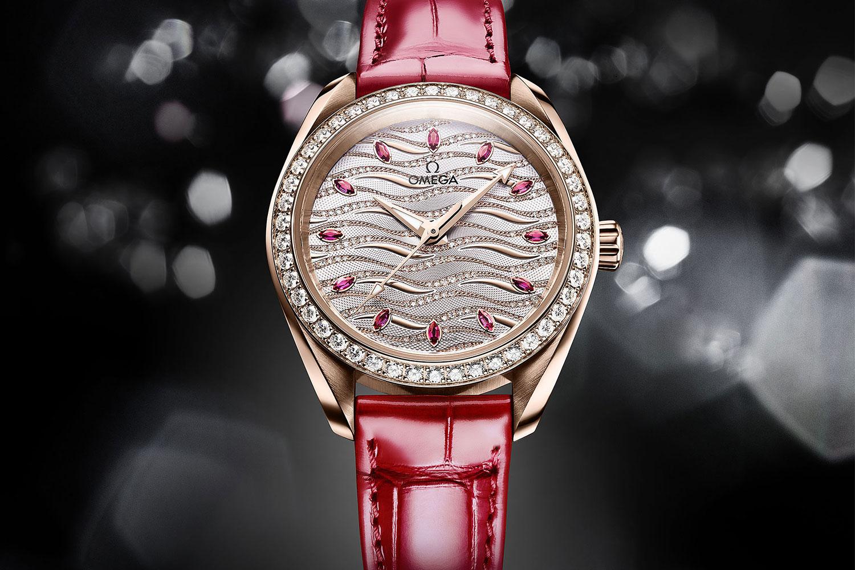 Đồng hồ OMEGA Seamaster Aqua Terra Jewellery nạm kim cương và hồng ngọc