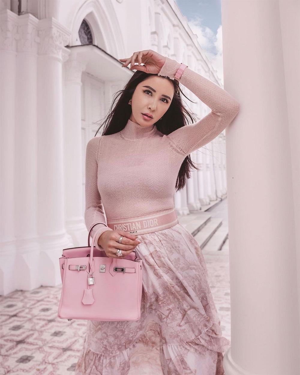 Jamie Chua, Hermès Singapore handbag queen, with a 25cm Bir Birkin model