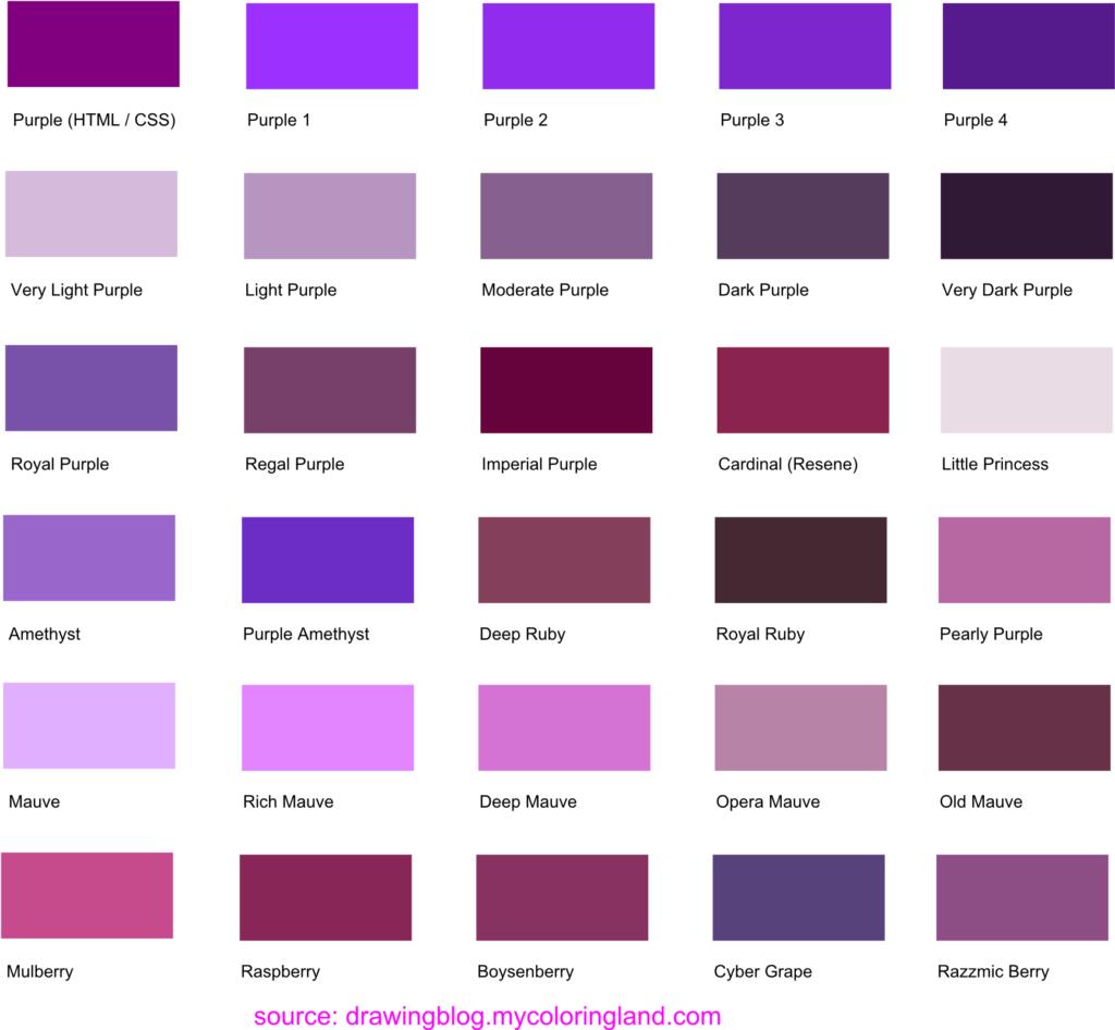 Màu tím kết hợp với màu gì thì đẹp