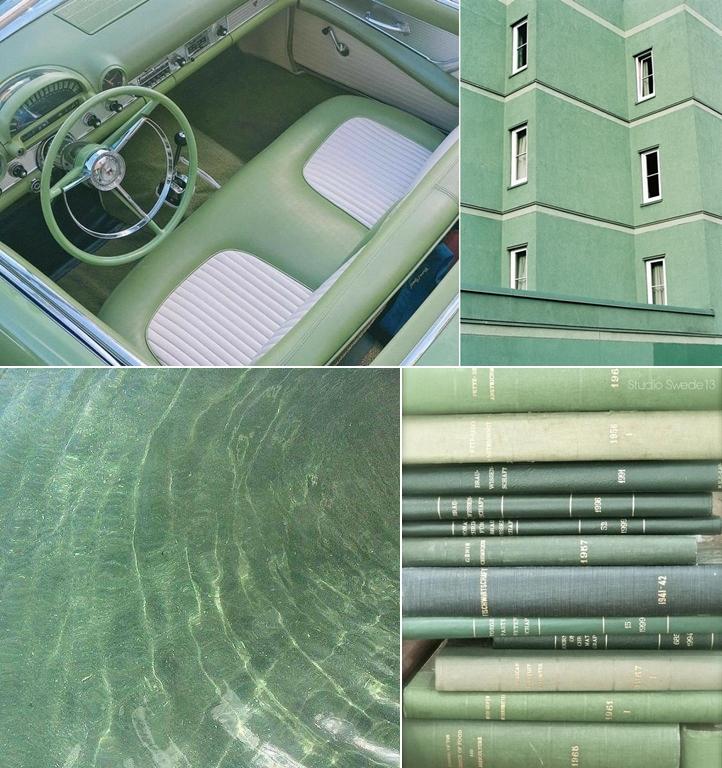 4 tấm ảnh màu mint green