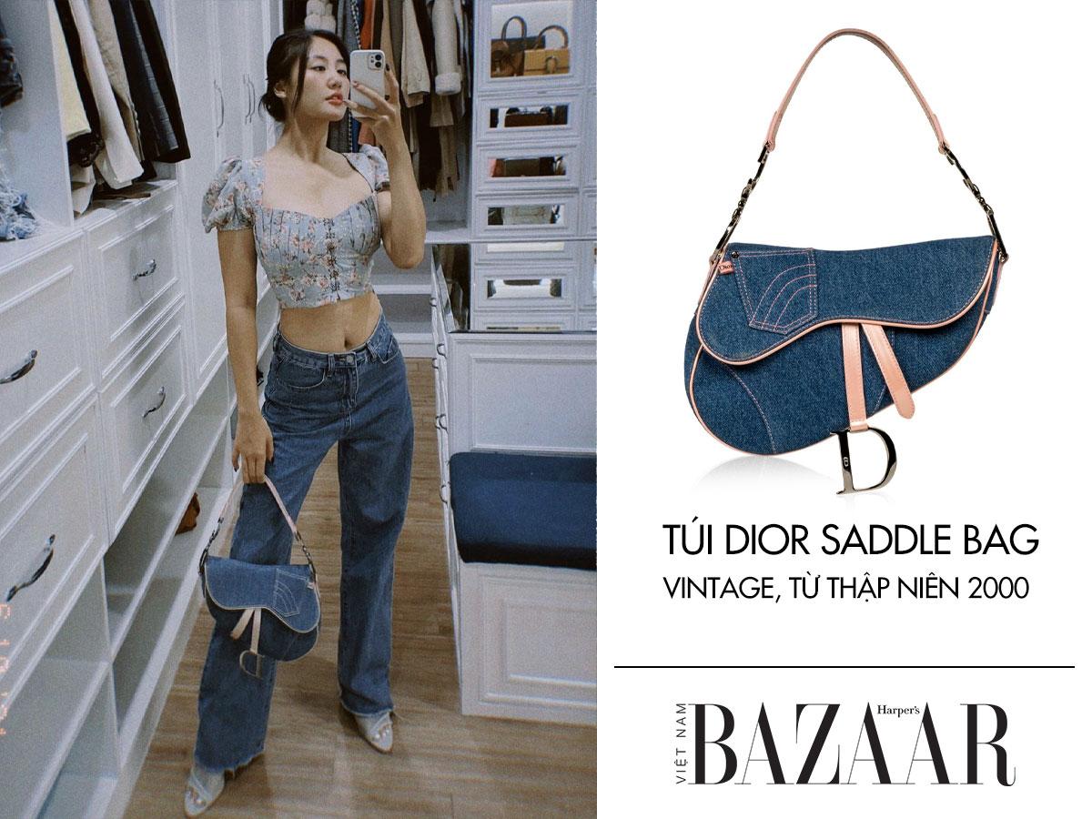 Văn Mai Hương là tay chơi hàng vintage thứ thật khi sở hữu túi Dior Saddle Bag xưa